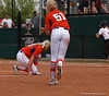 Sami Fagan makes a successful throw to 1st Base to record the third out in the 6th Inning and retiring the UGA offense