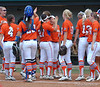 High Fives all around as the Gators celebrate the Game 3 and series victory