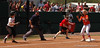 3B Sami Fagan successfully executes a run-down to record an out and prevent a UGA run