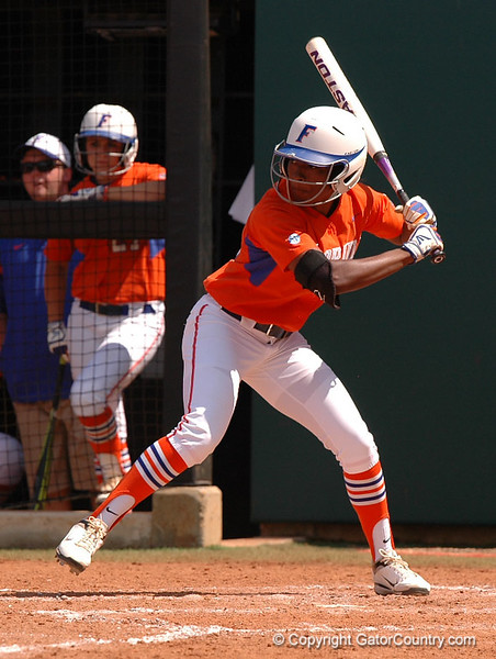 Michelle Moultrie  hits in the 5th Inning