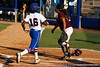 Florida junior center fielder Michelle Moultrie crosses home plate during the Gators' 8-0 win against the Bethune-Cookman Wildcats on Friday, May 20, 2011 at Katie Seashole Pressly Stadium in Gainesville, Fla. / photo by Rob Foldy