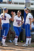 Florida sophomore Kelsey Horton runs onto the field during introductions before the Gators' 8-0 win against the Bethune-Cookman Wildcats on Friday, May 20, 2011 at Katie Seashole Pressly Stadium in Gainesville, Fla. / photo by Rob Foldy