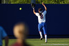Florida senior Kelsey Bruder chases a fly ball during the Gators' 8-0 win against the Bethune-Cookman Wildcats on Friday, May 20, 2011 at Katie Seashole Pressly Stadium in Gainesville, Fla. / photo by Rob Foldy