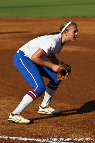 Florida freshman Kasey Fagan prepares for the pitch during the Gators' 8-0 win against the Bethune-Cookman Wildcats on Friday, May 20, 2011 at Katie Seashole Pressly Stadium in Gainesville, Fla. / photo by Rob Foldy