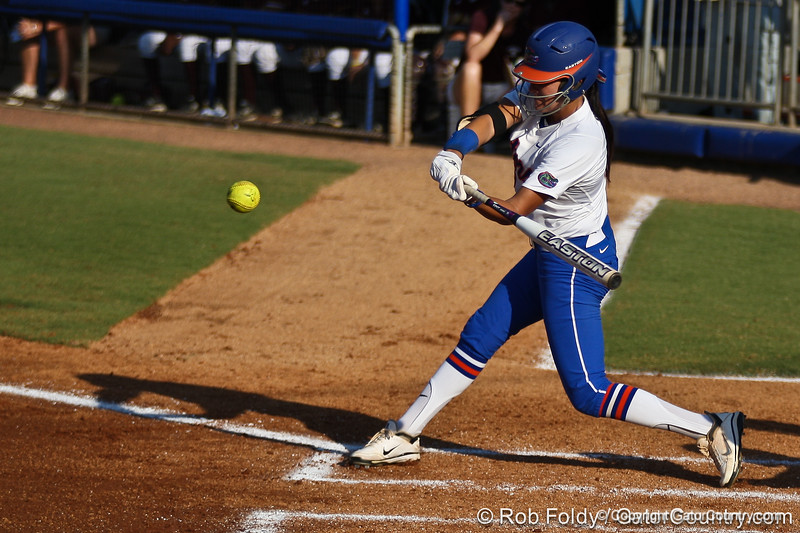 Florida senior Kelsey Bruder at bat during the Gators' 8-0 win against the Bethune-Cookman Wildcats on Friday, May 20, 2011 at Katie Seashole Pressly Stadium in Gainesville, Fla. / photo by Rob Foldy