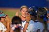 Florida senior pitcher Stephanie Brombacher slaps hands with her teammates during the Gators' 8-0 win against the Bethune-Cookman Wildcats on Friday, May 20, 2011 at Katie Seashole Pressly Stadium in Gainesville, Fla. / photo by Rob Foldy
