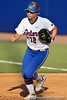 Florida senior first baseman Megan Bush jogs back to the dugout after recording an out during the Gators' 8-0 win against the Bethune-Cookman Wildcats on Friday, May 20, 2011 at Katie Seashole Pressly Stadium in Gainesville, Fla. / photo by Rob Foldy