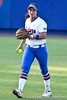 Florida freshman shortstop Cheyenne Coyle holds the ball during the Gators' 8-0 win against the Bethune-Cookman Wildcats on Friday, May 20, 2011 at Katie Seashole Pressly Stadium in Gainesville, Fla. / photo by Rob Foldy