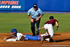 Florida junior center fielder Michelle Moultrie successfully steals second during the Gators' 8-0 win against the Bethune-Cookman Wildcats on Friday, May 20, 2011 at Katie Seashole Pressly Stadium in Gainesville, Fla. / photo by Rob Foldy