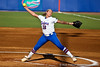 Florida senior pitcher Stephanie Brombacher delivers a pitch during the Gators' 8-0 win against the Bethune-Cookman Wildcats on Friday, May 20, 2011 at Katie Seashole Pressly Stadium in Gainesville, Fla. / photo by Rob Foldy