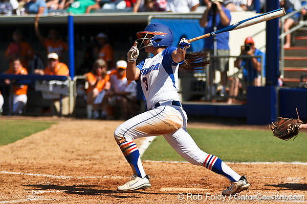 Florida senior second baseman Aja Paculba watches the ball during the Gators' 7-2 victory over the Tennessee Vols on Sunday, May 8, 2011 at Katie Seashole Pressly Stadium in Gainesville, Fla. / photo by Rob Foldy