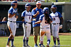 A few of the Gators talk to Florida head coach Tim Walton during a timeout during the Gators' 7-2 victory over the Tennessee Vols on Sunday, May 8, 2011 at Katie Seashole Pressly Stadium in Gainesville, Fla. / photo by Rob Foldy