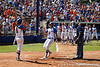 Florida sophomore Kelsey Horton celebrates with her teammates after a home run in the fifth inning of the Gators' 7-2 victory over the Tennessee Vols on Sunday, May 8, 2011 at Katie Seashole Pressly Stadium in Gainesville, Fla. / photo by Rob Foldy