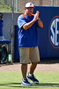 Florida head coach Tim Walton applauds during the Gators 7-2 victory over the Tennessee Vols on Sunday, May 8, 2011 at Katie Seashole Pressly Stadium in Gainesville, Fla. / photo by Rob Foldy