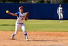 Florida freshman shortstop Cheyenne Coyle throws out a runner during the Gators 7-2 victory over the Tennessee Vols on Sunday, May 8, 2011 at Katie Seashole Pressly Stadium in Gainesville, Fla. / photo by Rob Foldy