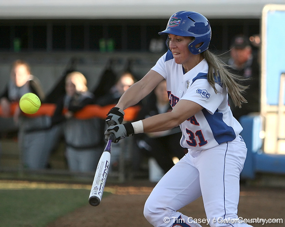 photo by Tim Casey<br /> <br /> during the Gators' sweep of the Mercer Bears in a doubleheader on Wednesday, February 13, 2008 at Katie Seashole Pressly Softball Stadium in Gainesville, Fla.