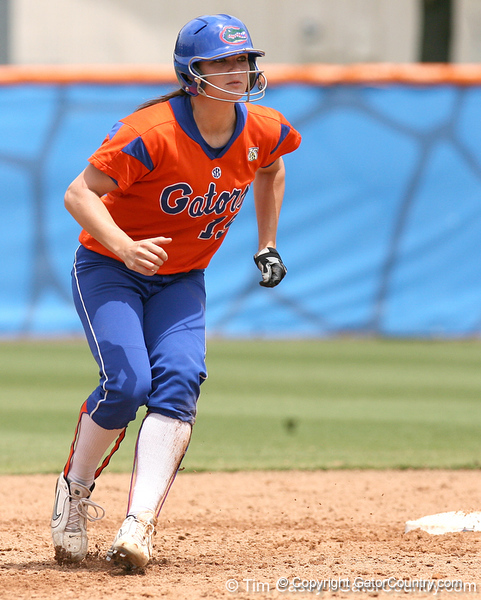 080419_JohnsonBrooke_0299_TCasey<br /> <br /> photo by Tim Casey<br /> <br /> during the no. 3-ranked Florida Gators' sweep of a doubleheader against the Kentucky Wildcats on Saturday, April 19, 2008 at Katie Seashole Pressly Softball Stadium in Gainesville, Fla. UF improved to 50-2 on the season.