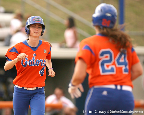 080419_HinesDanyell_1096_TCasey<br /> <br /> photo by Tim Casey<br /> <br /> during the no. 3-ranked Florida Gators' sweep of a doubleheader against the Kentucky Wildcats on Saturday, April 19, 2008 at Katie Seashole Pressly Softball Stadium in Gainesville, Fla. UF improved to 50-2 on the season.