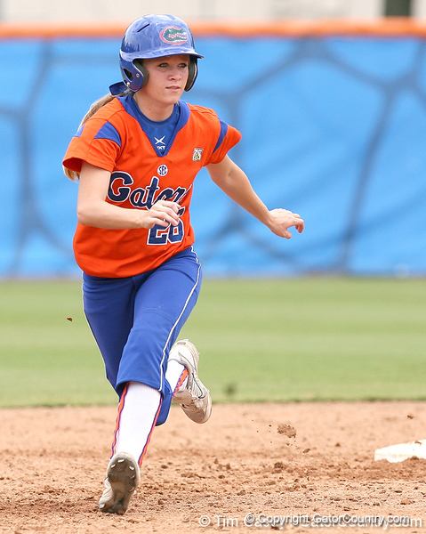 080419_AustinAmi_0316_TCasey<br /> <br /> photo by Tim Casey<br /> <br /> during the no. 3-ranked Florida Gators' sweep of a doubleheader against the Kentucky Wildcats on Saturday, April 19, 2008 at Katie Seashole Pressly Softball Stadium in Gainesville, Fla. UF improved to 50-2 on the season.