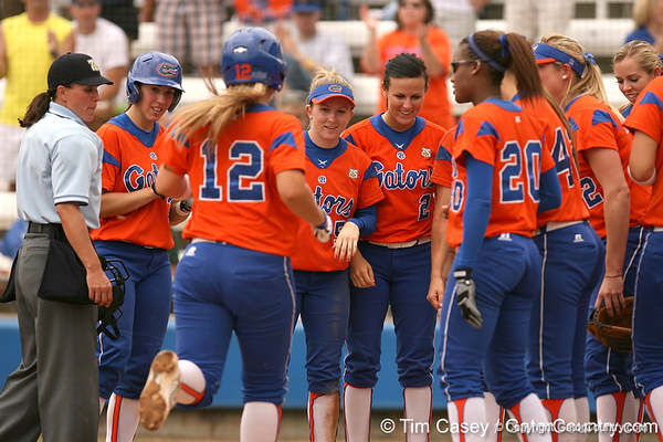 080419_WaleszoniaKimBushMegan_0561_TCasey<br /> <br /> photo by Tim Casey<br /> <br /> during the no. 3-ranked Florida Gators' sweep of a doubleheader against the Kentucky Wildcats on Saturday, April 19, 2008 at Katie Seashole Pressly Softball Stadium in Gainesville, Fla. UF improved to 50-2 on the season.