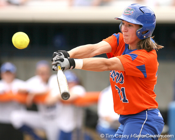 080419_HilberthKristina_0124_TCasey<br /> <br /> photo by Tim Casey<br /> <br /> during the no. 3-ranked Florida Gators' sweep of a doubleheader against the Kentucky Wildcats on Saturday, April 19, 2008 at Katie Seashole Pressly Softball Stadium in Gainesville, Fla. UF improved to 50-2 on the season.
