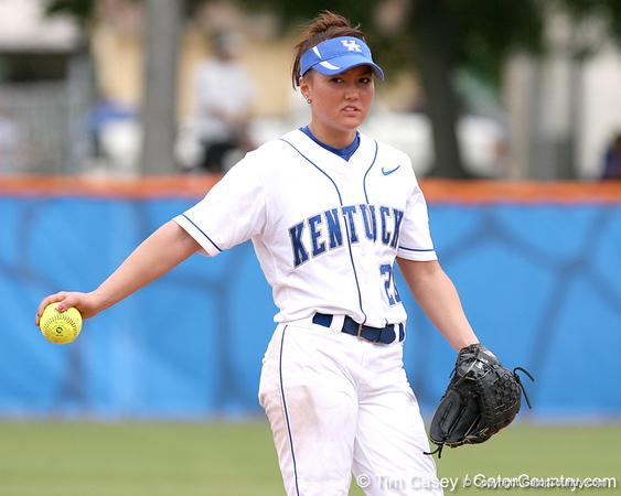 080419_YoungJennifer_0337_TCasey<br /> <br /> photo by Tim Casey<br /> <br /> during the no. 3-ranked Florida Gators' sweep of a doubleheader against the Kentucky Wildcats on Saturday, April 19, 2008 at Katie Seashole Pressly Softball Stadium in Gainesville, Fla. UF improved to 50-2 on the season.