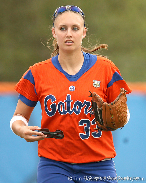 080419_HandyBrittany_0632_TCasey<br /> <br /> photo by Tim Casey<br /> <br /> during the no. 3-ranked Florida Gators' sweep of a doubleheader against the Kentucky Wildcats on Saturday, April 19, 2008 at Katie Seashole Pressly Softball Stadium in Gainesville, Fla. UF improved to 50-2 on the season.