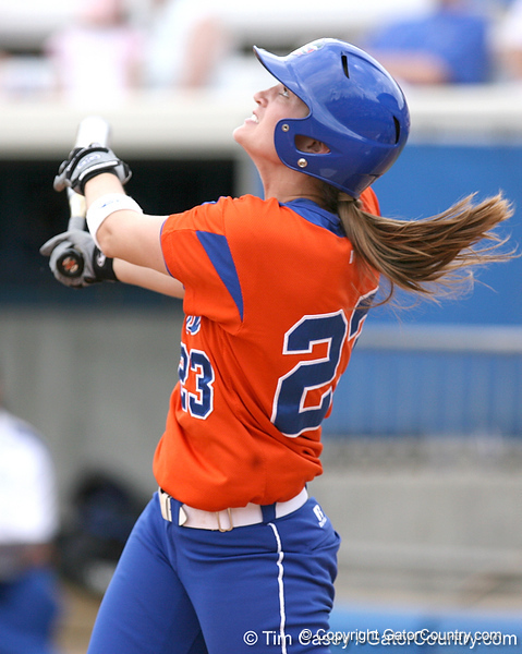 080419_RatliffMary_0265_TCasey<br /> <br /> photo by Tim Casey<br /> <br /> during the no. 3-ranked Florida Gators' sweep of a doubleheader against the Kentucky Wildcats on Saturday, April 19, 2008 at Katie Seashole Pressly Softball Stadium in Gainesville, Fla. UF improved to 50-2 on the season.