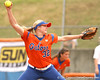 080419_BrombacherStephanie_0471_TCasey<br /> <br /> photo by Tim Casey<br /> <br /> during the no. 3-ranked Florida Gators' sweep of a doubleheader against the Kentucky Wildcats on Saturday, April 19, 2008 at Katie Seashole Pressly Softball Stadium in Gainesville, Fla. UF improved to 50-2 on the season.