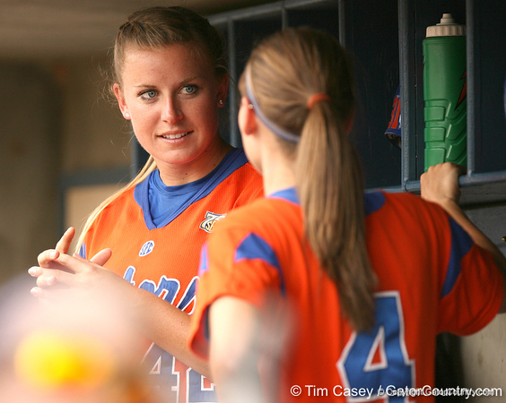 080419_NelsonStacey_0647_TCasey<br /> <br /> photo by Tim Casey<br /> <br /> during the no. 3-ranked Florida Gators' sweep of a doubleheader against the Kentucky Wildcats on Saturday, April 19, 2008 at Katie Seashole Pressly Softball Stadium in Gainesville, Fla. UF improved to 50-2 on the season.
