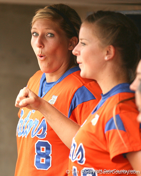 080419_PriebeKristine_0759_TCasey<br /> <br /> photo by Tim Casey<br /> <br /> during the no. 3-ranked Florida Gators' sweep of a doubleheader against the Kentucky Wildcats on Saturday, April 19, 2008 at Katie Seashole Pressly Softball Stadium in Gainesville, Fla. UF improved to 50-2 on the season.