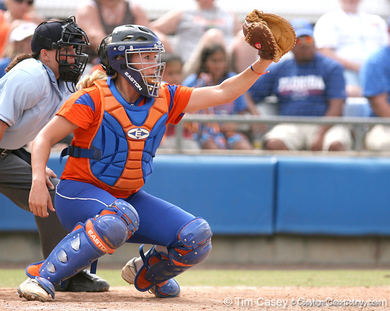 080419_PriebeKristine_0973_TCasey<br /> <br /> photo by Tim Casey<br /> <br /> during the no. 3-ranked Florida Gators' sweep of a doubleheader against the Kentucky Wildcats on Saturday, April 19, 2008 at Katie Seashole Pressly Softball Stadium in Gainesville, Fla. UF improved to 50-2 on the season.