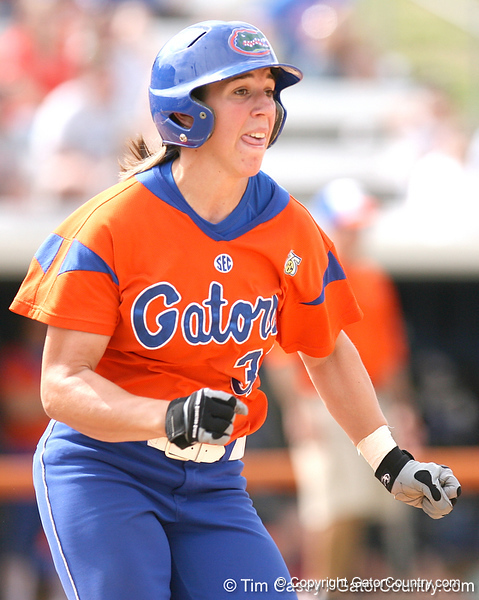 080419_HilberthKristina_0965_TCasey<br /> <br /> photo by Tim Casey<br /> <br /> during the no. 3-ranked Florida Gators' sweep of a doubleheader against the Kentucky Wildcats on Saturday, April 19, 2008 at Katie Seashole Pressly Softball Stadium in Gainesville, Fla. UF improved to 50-2 on the season.