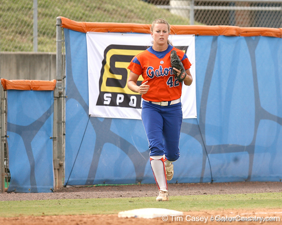 080419_NelsonStacey_1040_TCasey<br /> <br /> photo by Tim Casey<br /> <br /> during the no. 3-ranked Florida Gators' sweep of a doubleheader against the Kentucky Wildcats on Saturday, April 19, 2008 at Katie Seashole Pressly Softball Stadium in Gainesville, Fla. UF improved to 50-2 on the season.