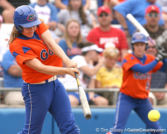 080419_BrooksCorrie_0806_TCasey<br /> <br /> photo by Tim Casey<br /> <br /> during the no. 3-ranked Florida Gators' sweep of a doubleheader against the Kentucky Wildcats on Saturday, April 19, 2008 at Katie Seashole Pressly Softball Stadium in Gainesville, Fla. UF improved to 50-2 on the season.