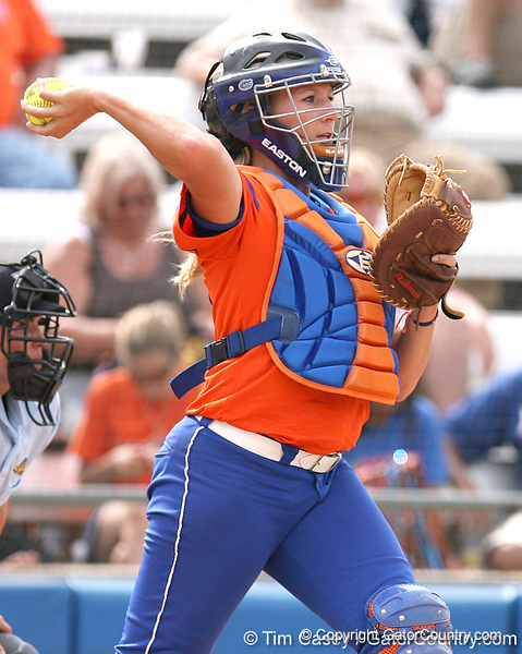 080419_PriebeKristine_0975_TCasey<br /> <br /> photo by Tim Casey<br /> <br /> during the no. 3-ranked Florida Gators' sweep of a doubleheader against the Kentucky Wildcats on Saturday, April 19, 2008 at Katie Seashole Pressly Softball Stadium in Gainesville, Fla. UF improved to 50-2 on the season.