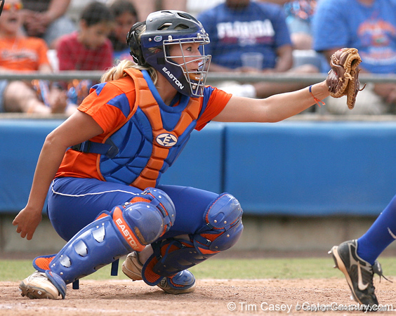 080419_PriebeKristine_1034_TCasey<br /> <br /> photo by Tim Casey<br /> <br /> during the no. 3-ranked Florida Gators' sweep of a doubleheader against the Kentucky Wildcats on Saturday, April 19, 2008 at Katie Seashole Pressly Softball Stadium in Gainesville, Fla. UF improved to 50-2 on the season.