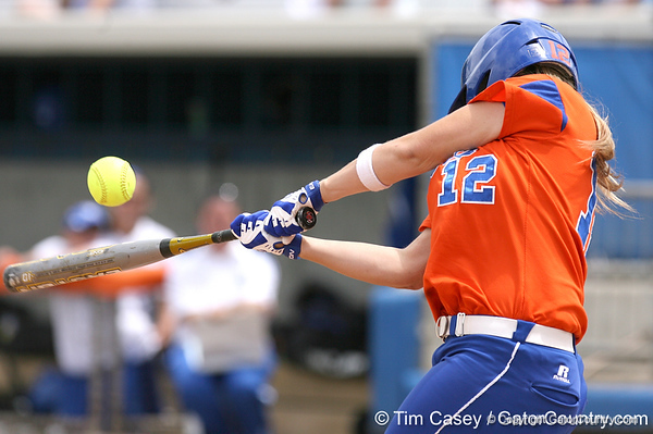 080419_BushMegan_0284_TCasey<br /> <br /> photo by Tim Casey<br /> <br /> during the no. 3-ranked Florida Gators' sweep of a doubleheader against the Kentucky Wildcats on Saturday, April 19, 2008 at Katie Seashole Pressly Softball Stadium in Gainesville, Fla. UF improved to 50-2 on the season.