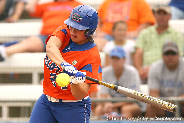 080419_GardinerAli_0733_TCasey<br /> <br /> photo by Tim Casey<br /> <br /> during the no. 3-ranked Florida Gators' sweep of a doubleheader against the Kentucky Wildcats on Saturday, April 19, 2008 at Katie Seashole Pressly Softball Stadium in Gainesville, Fla. UF improved to 50-2 on the season.
