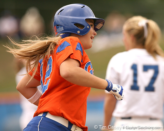 080419_BushMegan_0551_TCasey<br /> <br /> photo by Tim Casey<br /> <br /> during the no. 3-ranked Florida Gators' sweep of a doubleheader against the Kentucky Wildcats on Saturday, April 19, 2008 at Katie Seashole Pressly Softball Stadium in Gainesville, Fla. UF improved to 50-2 on the season.