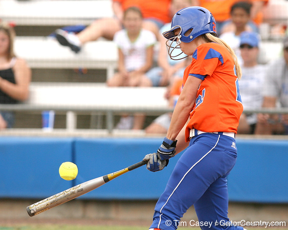 080419_AdkinsKristen_0796_TCasey<br /> <br /> photo by Tim Casey<br /> <br /> during the no. 3-ranked Florida Gators' sweep of a doubleheader against the Kentucky Wildcats on Saturday, April 19, 2008 at Katie Seashole Pressly Softball Stadium in Gainesville, Fla. UF improved to 50-2 on the season.
