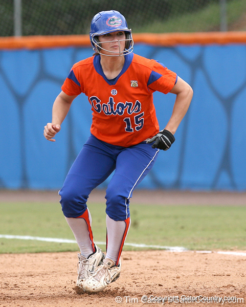 080419_JohnsonBrooke_0278_TCasey<br /> <br /> photo by Tim Casey<br /> <br /> during the no. 3-ranked Florida Gators' sweep of a doubleheader against the Kentucky Wildcats on Saturday, April 19, 2008 at Katie Seashole Pressly Softball Stadium in Gainesville, Fla. UF improved to 50-2 on the season.