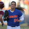 photo by Tim Casey<br /> <br /> Florida senior first baseman Ali Gardiner heads to the dugout during the Gators' 4-3 win in nine innings against the Florida State Seminoles on Wednesday, April 8, 2009 at Katie Seashole Pressly Softball Stadium in Gainesville, Fla.