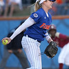 photo by Tim Casey<br /> <br /> Florida sophomore pitcher Stephanie Brombacher winds up during the  sixth inning of the Gators' 4-3 win in nine innings against the Florida State Seminoles on Wednesday, April 8, 2009 at Katie Seashole Pressly Softball Stadium in Gainesville, Fla.