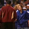 photo by Tim Casey<br /> <br /> Florida student coach Mary Ratliff shakes hands with FSU players the Gators' 4-3 win in nine innings against the Seminoles on Wednesday, April 8, 2009 at Katie Seashole Pressly Softball Stadium in Gainesville, Fla.