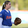photo by Tim Casey<br /> <br /> Florida junior third baseman Corrie Brooks gets in position during the Gators' 4-3 win in nine innings against the Florida State Seminoles on Wednesday, April 8, 2009 at Katie Seashole Pressly Softball Stadium in Gainesville, Fla.