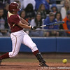 photo by Tim Casey<br /> <br /> FSU's Mallory Borden grounds out during the eighth inning of the Gators' 4-3 win in nine innings against the Florida State Seminoles on Wednesday, April 8, 2009 at Katie Seashole Pressly Softball Stadium in Gainesville, Fla.