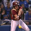 photo by Tim Casey<br /> <br /> FSU's Kaleigh Rafter strikes out during the eighth inning of the Gators' 4-3 win in nine innings against the Florida State Seminoles on Wednesday, April 8, 2009 at Katie Seashole Pressly Softball Stadium in Gainesville, Fla.