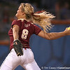 photo by Tim Casey<br /> <br /> FSU pitcher Terese Gober winds up during the eighth inning of the Gators' 4-3 win in nine innings against the Florida State Seminoles on Wednesday, April 8, 2009 at Katie Seashole Pressly Softball Stadium in Gainesville, Fla.