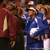 photo by Tim Casey<br /> <br /> Florida assistant coach Jennifer Rocha shakes hands with FSU players the Gators' 4-3 win in nine innings against the Seminoles on Wednesday, April 8, 2009 at Katie Seashole Pressly Softball Stadium in Gainesville, Fla.